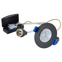 Bari LED inbouwspot armatuur zwart inclusief GU10 fitting IP65 spatwaterdicht 2 jaar garantie