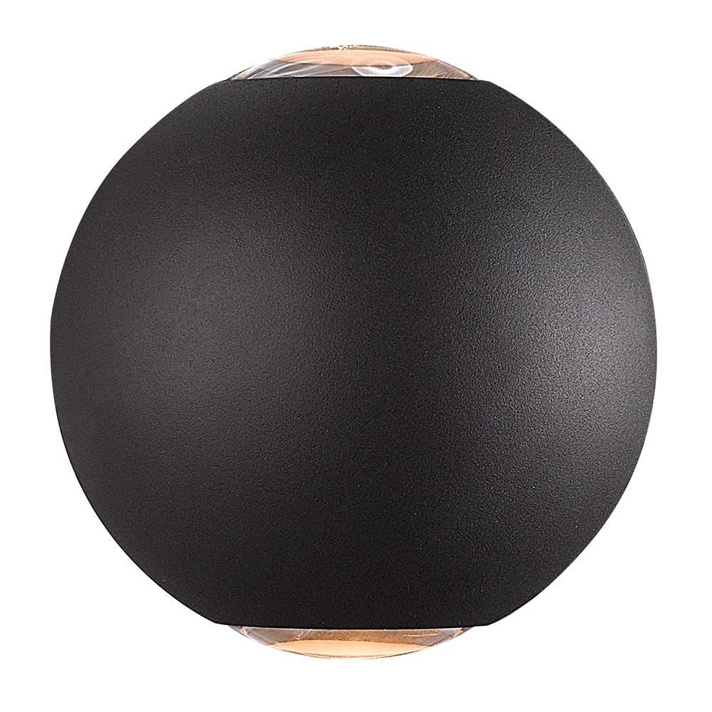 LED wandlamp 6 Watt 3000K tweezijdig oplichtend IP65 zwarte Globe
