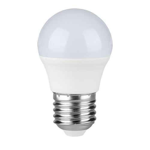 V-TAC E27 LED Lamp 4 Watt Kogellamp G45 2700K Vervangt 30 Watt