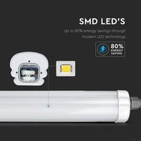 IP65 LED armatuur 120 cm 24W 3840lm 4500K Koppelbaar