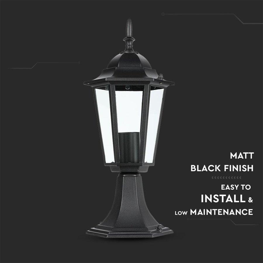 LED tuinlantaarn aluminium geschikt voor E27 lampen [IP44 vochtbestendig]