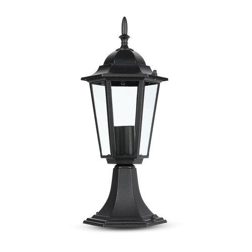 Gartenleuchte stehend Laterne Form Aluminium passend für E27 Lampen [IP44 feuchtebeständig]