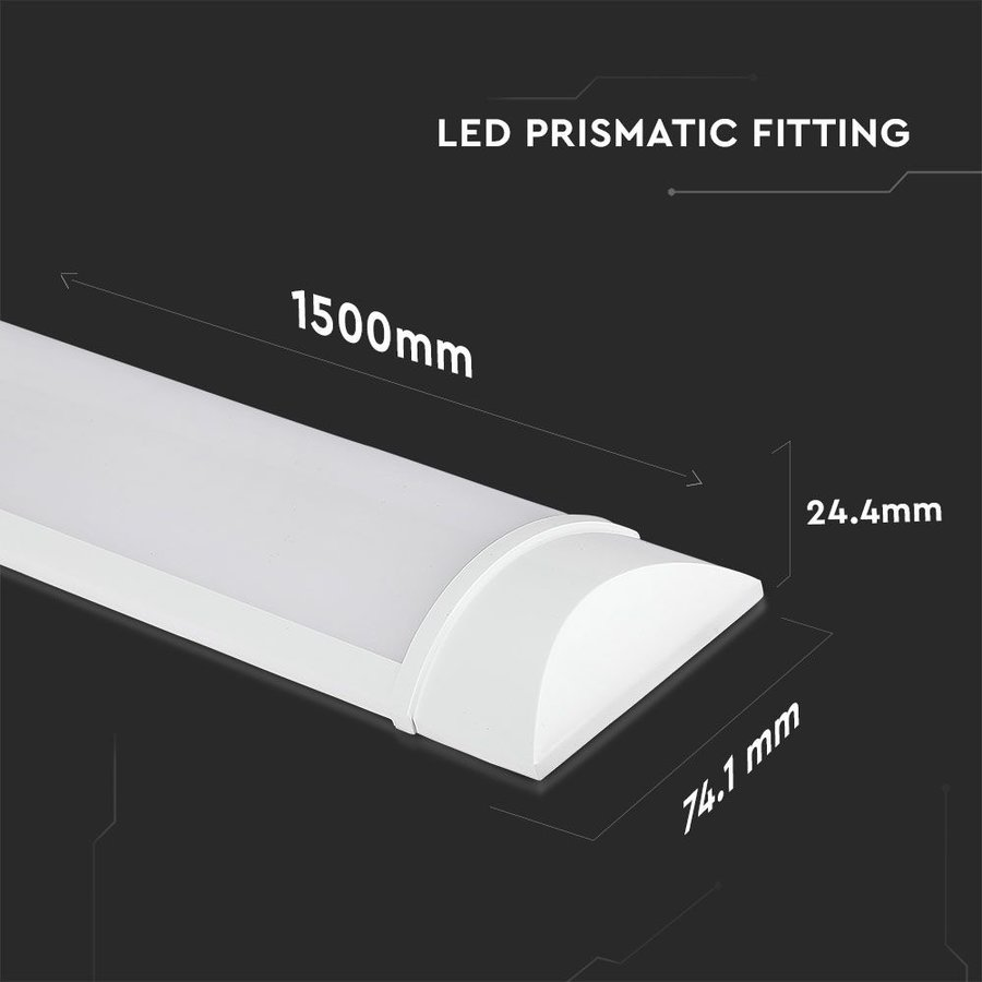 LED Batten 150 cm 50W 4000K 6000lm Samsung -  5 year warranty incl. mounting clips & quick connector