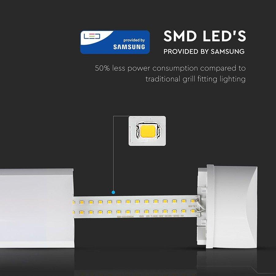 LED Batten 150 cm 50W 6400K 6000lm Samsung - 5 jaar garantie incl. montageklemmen & quick connector