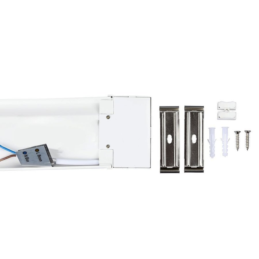 LED Batten 60 cm 15W 4000K 2400lm Samsung -  5 year warranty incl. mounting clips & quick connector