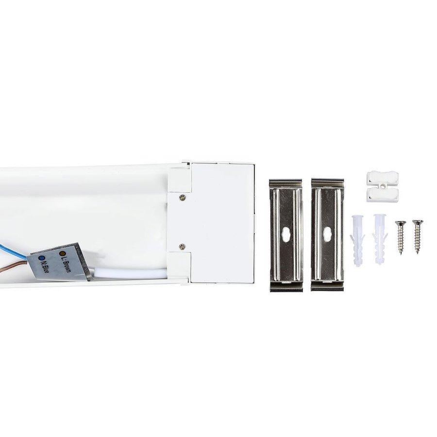 LED Batten 60 cm 15W 6400K 2400lm Samsung - 5 Jahre Garantie Inkl. Montage Halterungen & schnellverbinder