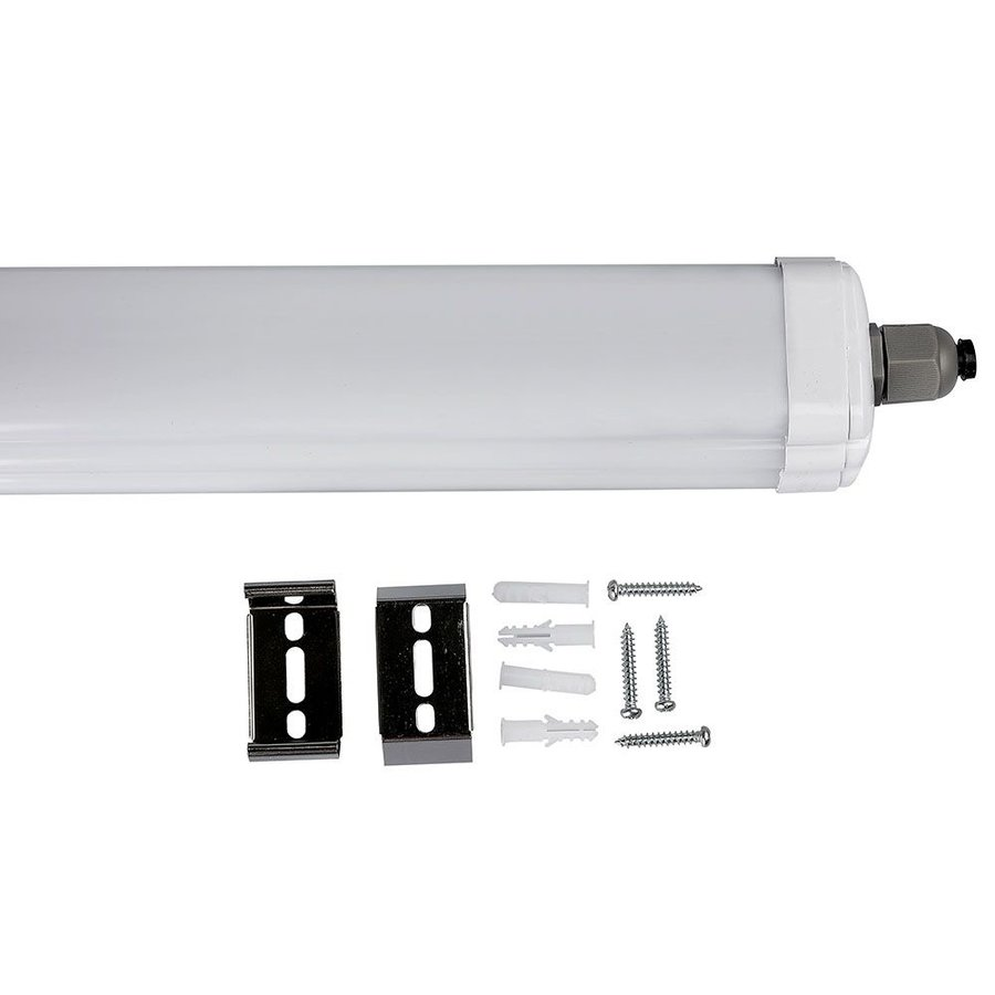 12-pack LED armaturen IP65 120 cm 36 Watt 2880lm 6400K koppelbaar