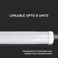 6-pack LED armaturen IP65 150 cm 48 Watt 3840lm 6400K onderling koppelbaar