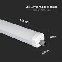 12-pack LED armaturen IP65 150 cm 48 Watt 3840lm 6000K onderling koppelbaar