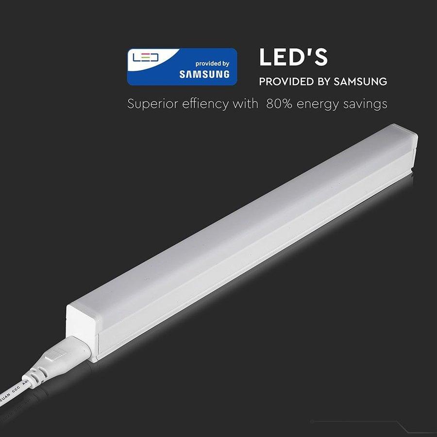 T5 LED Armatuur 30 cm 4000K 4 Watt Koppelbaar 5 jaar garantie Samsung