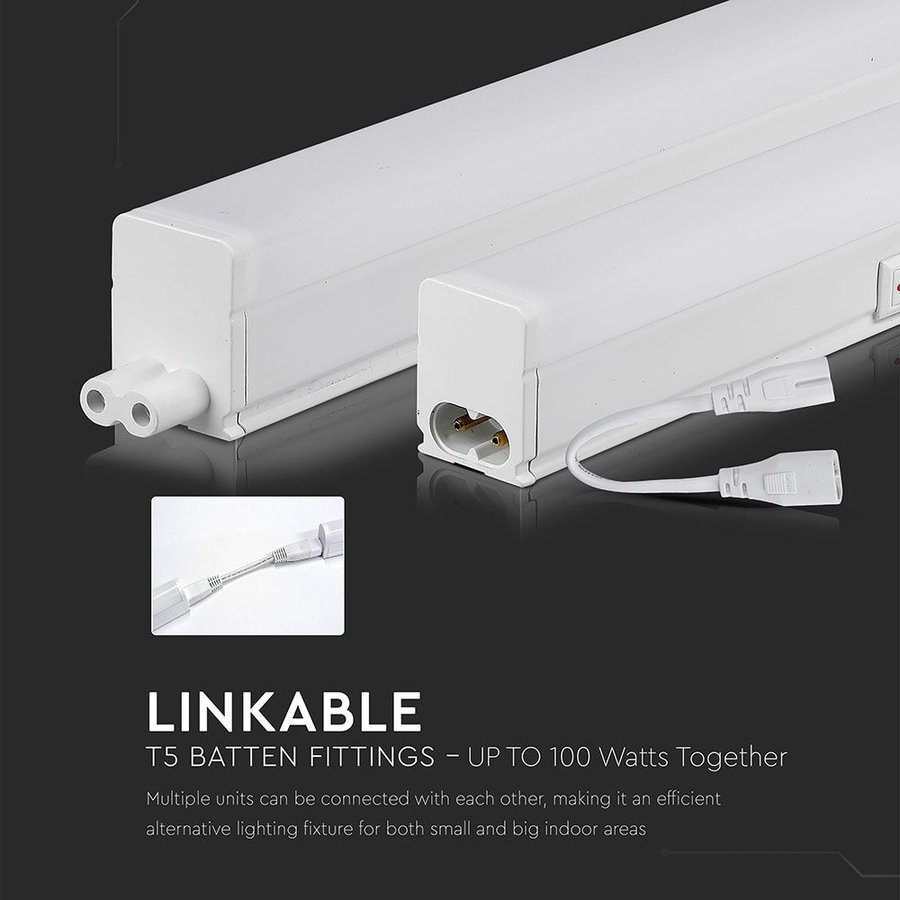 T5 LED fixture 30 cm 6400K 4 Watt Linkable 5 year warranty Samsung