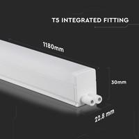 T5 LED Armatuur 120 cm 4000K 16 Watt Koppelbaar 5 jaar garantie Samsung
