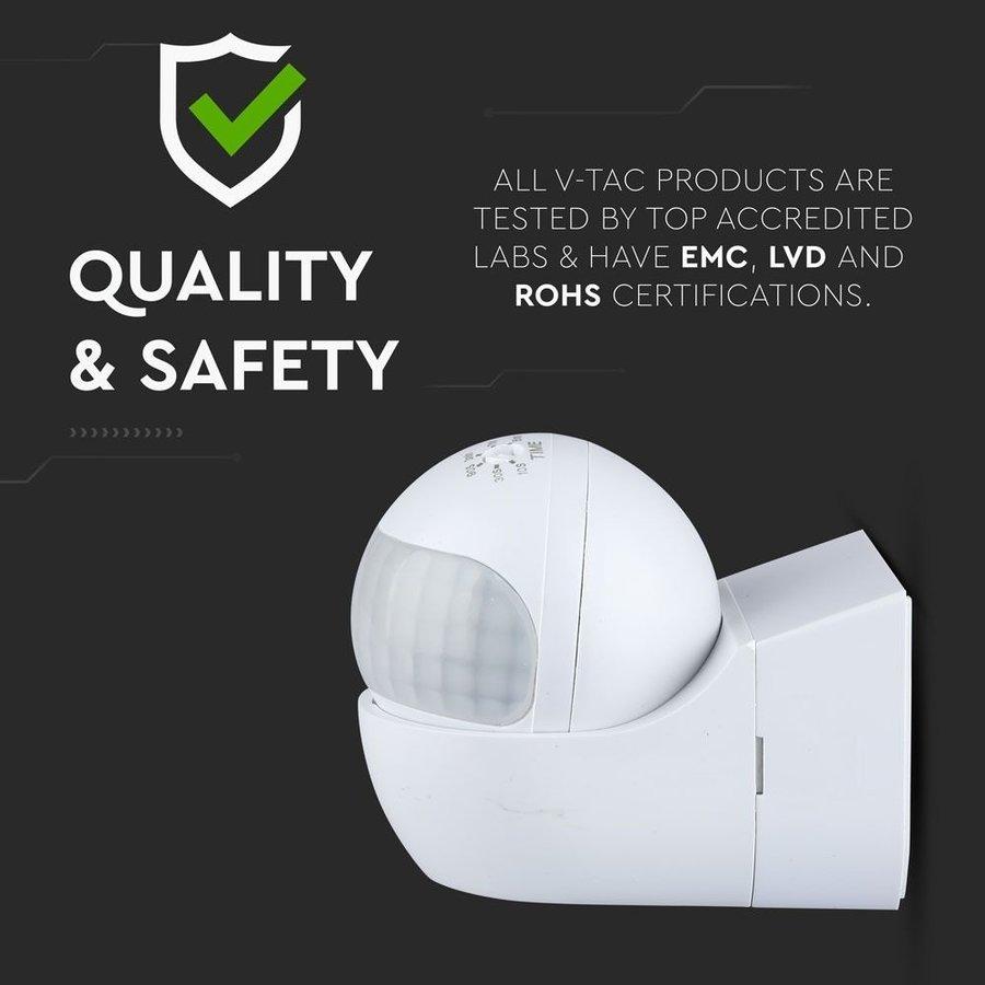 PIR motion sensor with twilight switch 180° range 12 meter Maximum 400 Watt surface mounted color white IP44