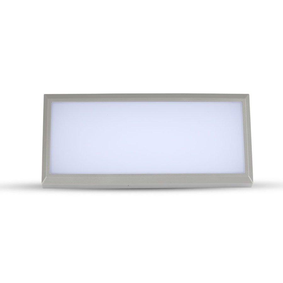 Moderne LED Wand Buitenlamp 12 Watt 600lm 3000K warm wit IP65 kleur grijs