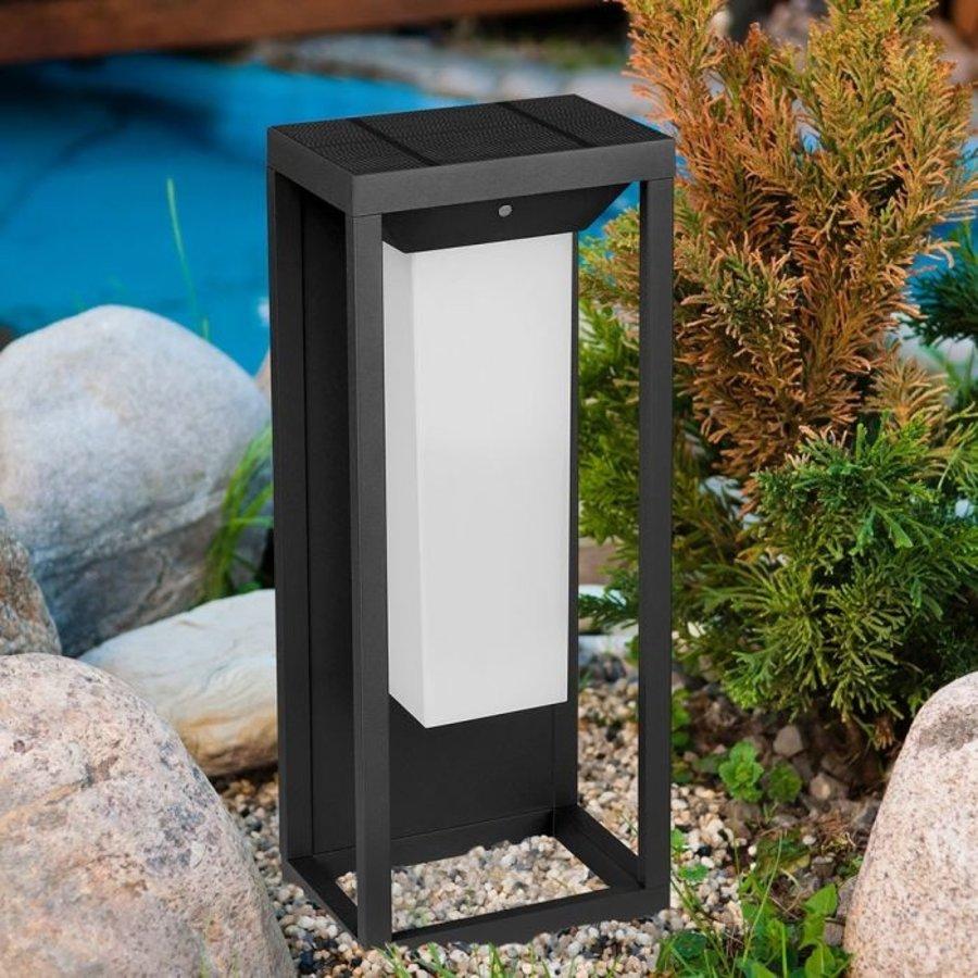 LED Solar Wandlamp Samsung 2 Watt 3000K Grijs