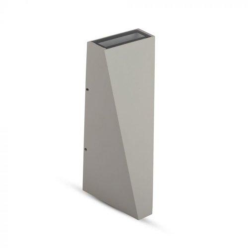 V-TAC LED wandlamp 6 Watt 4000K tweezijdig oplichtend IP65 grijs