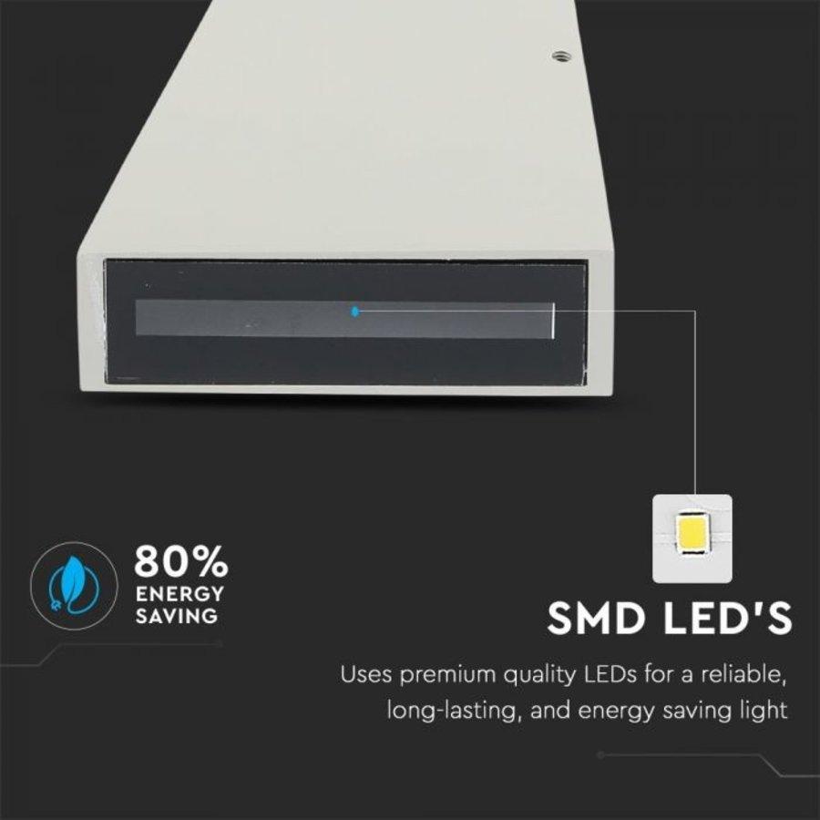 LED wandlamp 6 Watt 4000K tweezijdig oplichtend IP65 grijs