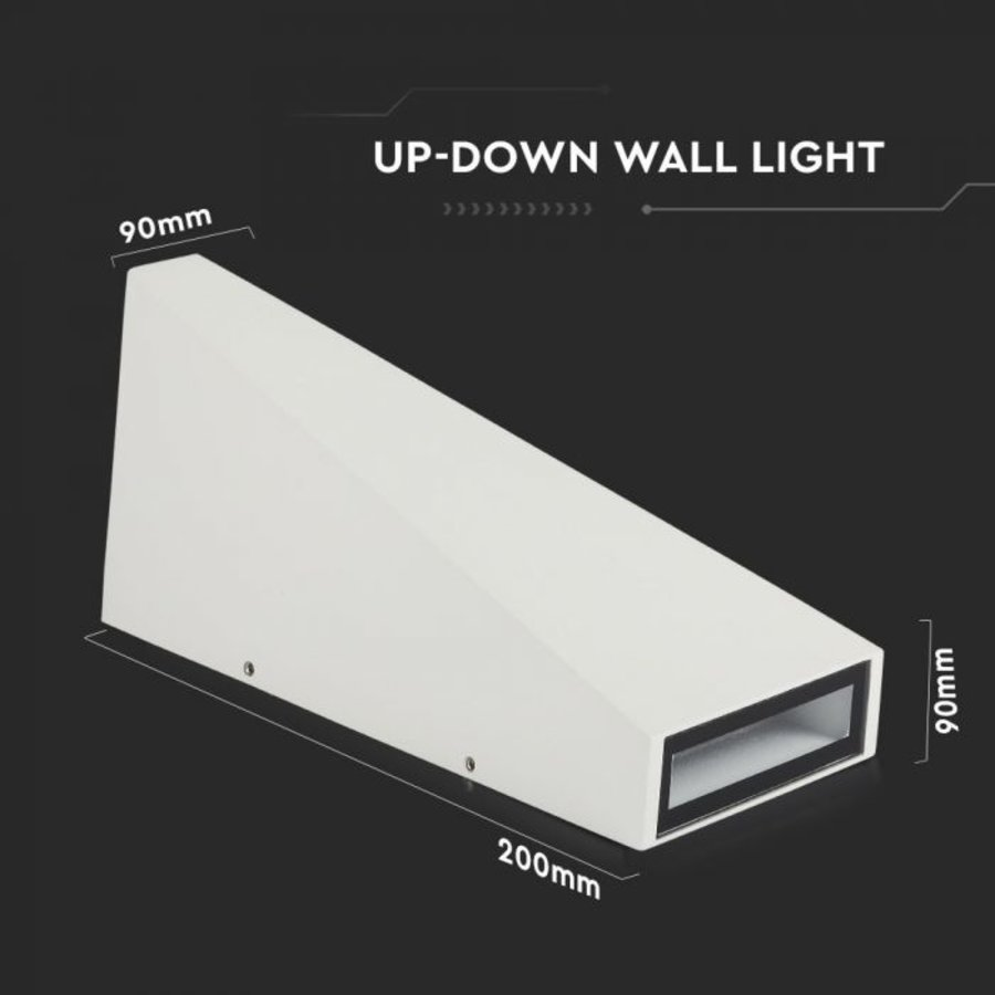 LED wall light 6 Watt 3000K double-sided illuminating IP65 white