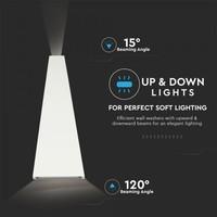 LED wandlamp 6 Watt 4000K tweezijdig oplichtend IP65 wit