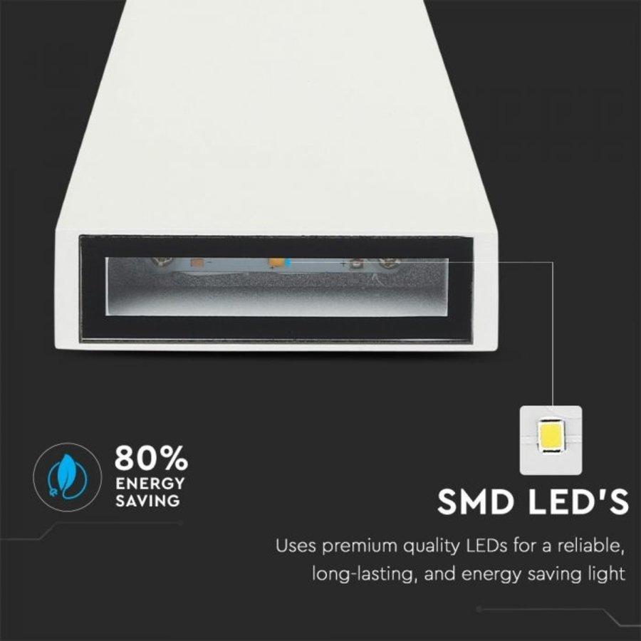 LED wall light 6 Watt 4000K double-sided illuminating IP65 white