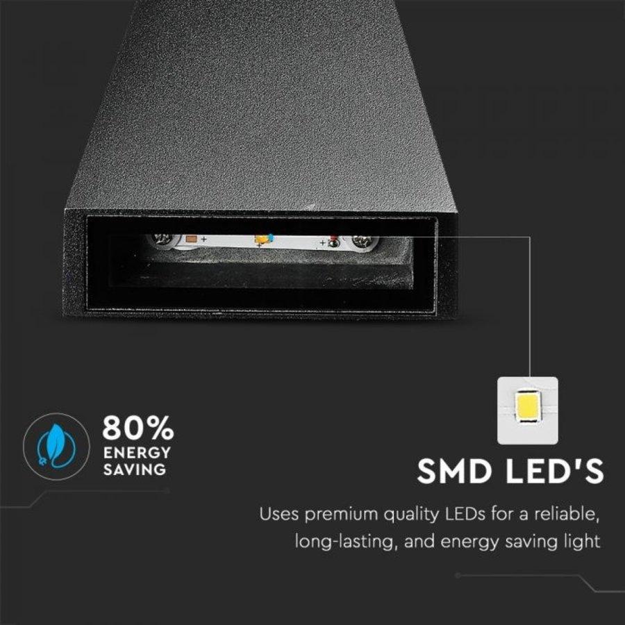LED wandlamp 6 Watt 4000K tweezijdig oplichtend IP65 zwart