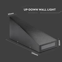 LED wall light 6 Watt 3000K double-sided illuminating IP65 black