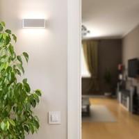 LED wandlamp 12 Watt Grijs 3000K tweezijdig oplichtend IP65