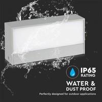 LED wall lamp 12 Watt Grey 3000K Double-sided illuminated IP65