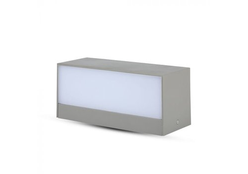 V-TAC LED wandlamp 12 Watt Grijs 3000K tweezijdig oplichtend IP65