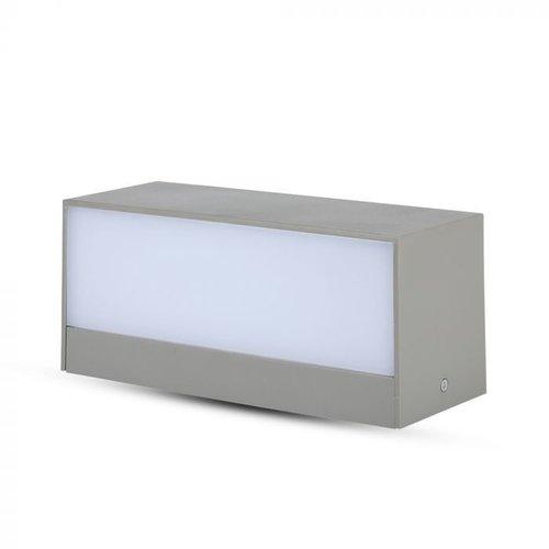 V-TAC LED Wandleuchte 12 Watt Grau 3000K Doppelseitig leuchtend IP65