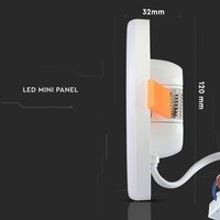 MINI LED Panel Downlight white 12 Watt 6400K square IP20
