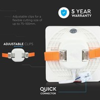 MINI LED Paneel Downlight wit 18 Watt 4000K vierkant IP20
