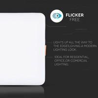 MINI LED Panel Downlight white 18 Watt 6400K sqaure IP20