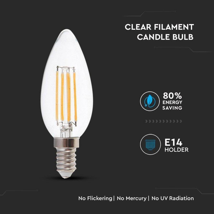 E14 LED Filament Bulb 4 Watt 2700K Replaces 30 Watt