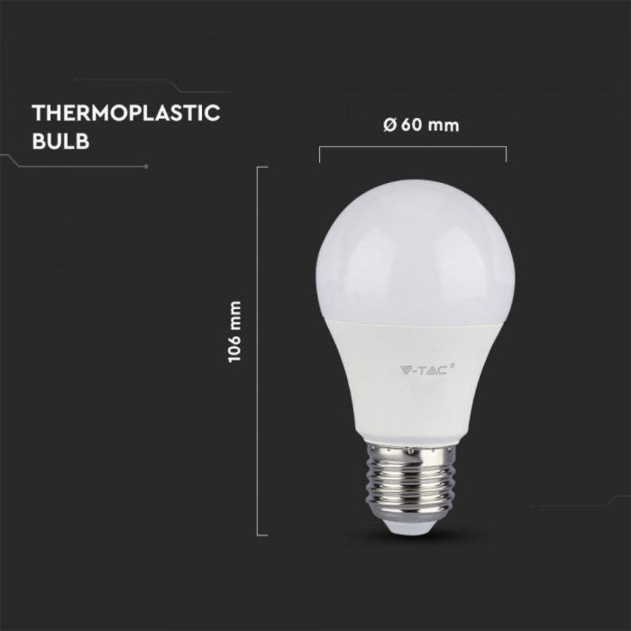 E27 LED Bulb 9 Watt A58 Samsung 6400K Replaces 60 Watt
