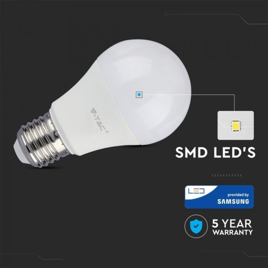 E27 LED Lamp 9 Watt A58 Samsung 6400K Vervangt 60 Watt