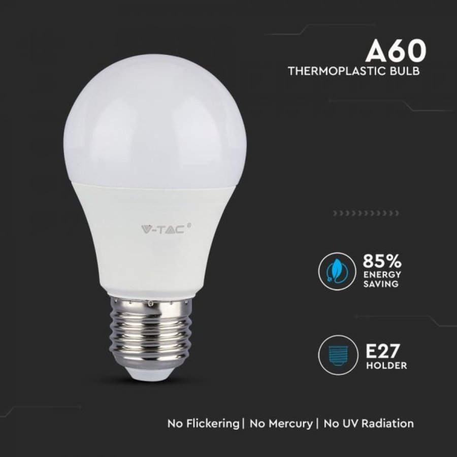 E27 LED Bulb 11 Watt A60 Samsung 6400K replaces 75 Watt
