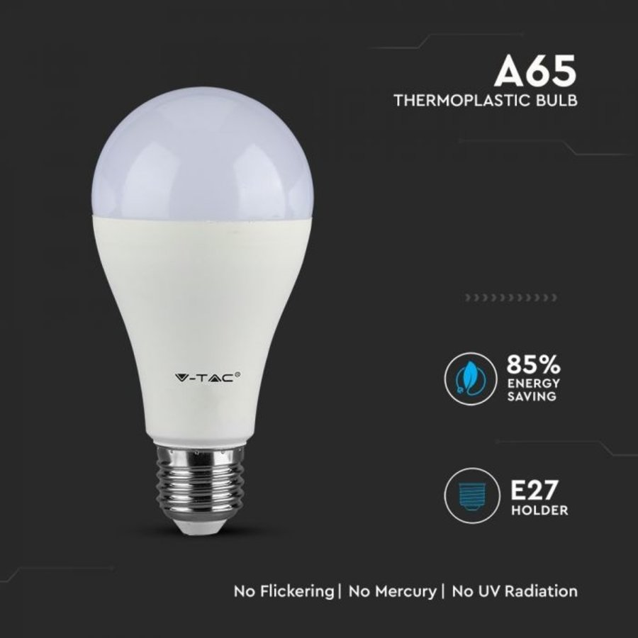 E27 LED Lamp 15 Watt A65 Samsung 3000K Vervangt 85 Watt