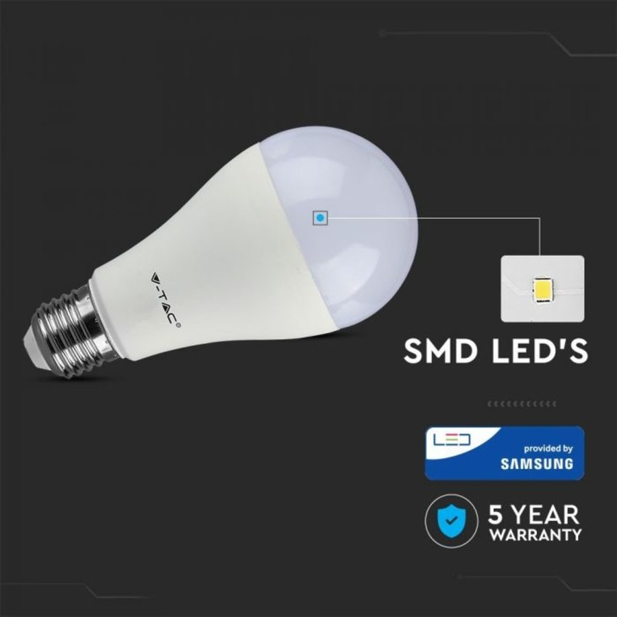 E27 LED Lamp 17 Watt A65 Samsung 6400K Vervangt 100 Watt