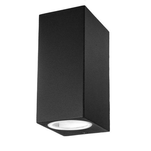 Tweezijdig Oplichtende Buitenlamp Wand Vierkant LED GU10 IP44