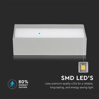 Tweezijdig oplichtende wandlamp 9 Watt 400lm 3000K warm wit IP65 vochtbestendig