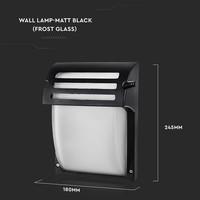 Traditionele LED Wand Buitenlamp E27 IP44 Mat Zwart