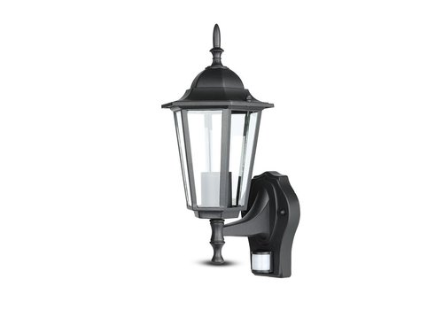 Outdoor lamp classic matt black with motion detector 3 year warranty