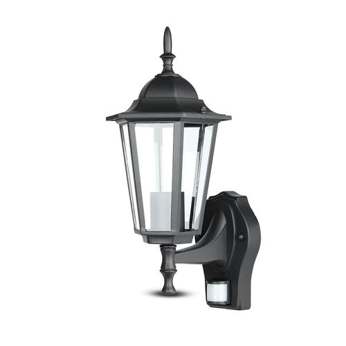 V-TAC Outdoor lamp classic matt black with motion detector 3 year warranty