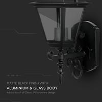 Traditioneel klassieke wandlamp zwart voor E27 lampen IP44 3 jaar garantie