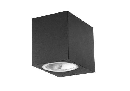 Vierkante Buitenlamp Wand LED Zwart IP44