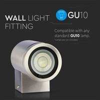 Wandlamp RVS geschikt voor GU10 spots IP44 vochtbestendig 3 jaar garantie
