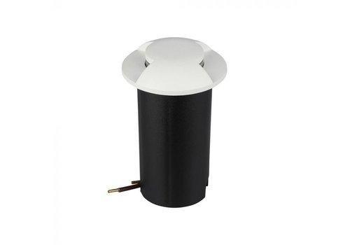Grondspot Rond Wit 1 Watt 3000K IP67 12V - 2 Lichts