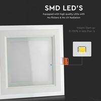 LED Downlight 12 Watt 3000K 840lm Glas