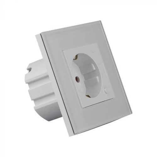 V-TAC Smart socket white - Connectable with Google Home & Alexa